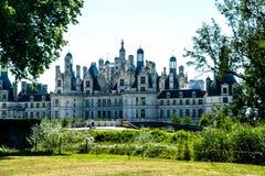Vista sul castello Chambord in Francia Fotografia Stock