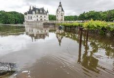 Vista sul castello di Chenonceau fotografia stock