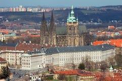 Vista sul castello di Praga, repubblica ceca Fotografie Stock