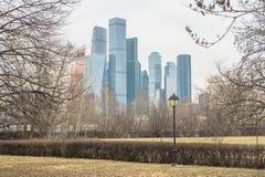 Vista sul centro internazionale MIBC di affari di Mosca da Fili Immagini Stock Libere da Diritti