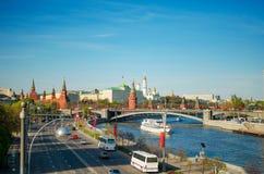 Vista sul Cremlino a Mosca Fotografia Stock Libera da Diritti