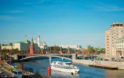 Vista sul Cremlino a Mosca Immagini Stock Libere da Diritti