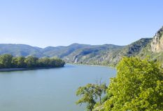 Vista sul Danubio fotografia stock libera da diritti