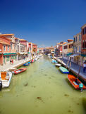 Vista sul dei Vetrai di Rio in Murano, Italia Fotografia Stock