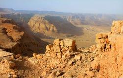 Vista sul deserto da Masada Immagine Stock