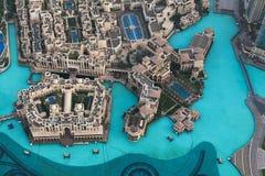 Vista sul Dubai dall'più alta torre nel mondo Immagine Stock