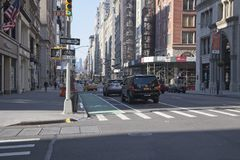 Vista sul em Fifth Avenue New York City fotografia de stock royalty free