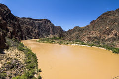Vista sul fiume Colorado dentro Grand Canyon Fotografie Stock Libere da Diritti