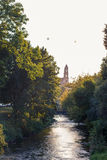 Vista sul fiume a Vilnius Immagini Stock Libere da Diritti