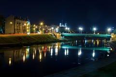 Vista sul fiume a Vilnius Fotografia Stock Libera da Diritti