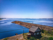Vista sul fiume Volga Immagine Stock Libera da Diritti