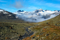 Vista sul Galdhopiggen Fotografia Stock