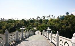 Vista sul giardino botanico nell'isola di Jeju, giardino botanico, isola vulcanica Fotografia Stock Libera da Diritti