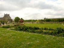 Vista sul giardino del tuilerie Immagini Stock Libere da Diritti
