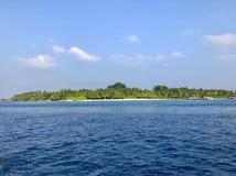Vista sul iseland di Kuramathi fotografie stock