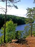 Vista sul lago Ladoga Immagine Stock