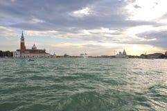 Vista sul livellare Venezia. Fotografia Stock
