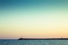 Vista sul mare Fotografie Stock Libere da Diritti
