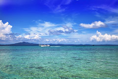 Vista sul mare. Acqua del turchese Fotografia Stock Libera da Diritti