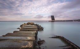 Vista sul mare in Alges immagine stock