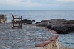 Vista sul mare all'isola di Alonnisos, Grecia immagine stock libera da diritti