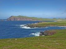 Vista sul mare, anello del kerry, Irlanda Fotografia Stock