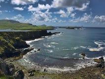 Vista sul mare, anello del kerry, isola dello skellig, Irlanda Immagini Stock Libere da Diritti