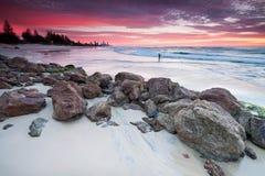 Vista sul mare australiana all'alba Immagini Stock