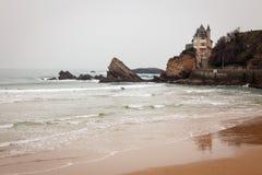 Vista sul mare Biarritz Francia Fotografia Stock
