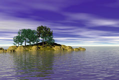 Vista sul mare calma dell'acqua Immagini Stock Libere da Diritti
