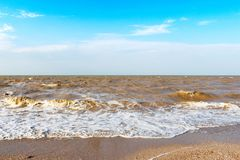 Vista sul mare sul cielo del fondo Fotografie Stock Libere da Diritti