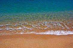 Vista sul mare. Costa Brava, Spagna. immagini stock