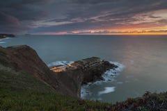 Vista sul mare crepuscolare fotografie stock libere da diritti