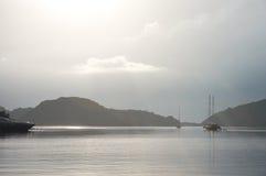 Vista sul mare d'argento serena in Croazia Fotografia Stock Libera da Diritti