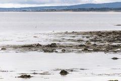 Vista sul mare dalla spiaggia del castello di Dunrobin Immagini Stock Libere da Diritti