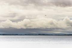 Vista sul mare dalla spiaggia del castello di Dunrobin Fotografia Stock