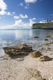 Vista sul mare dei giardini dell'oleandro Immagini Stock