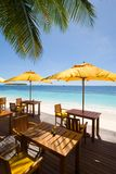 Vista sul mare dei Maldives Fotografia Stock
