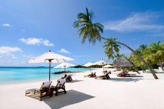 Vista sul mare dei Maldives Immagini Stock