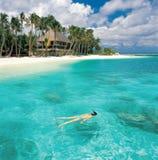 Vista sul mare dei Maldives Immagini Stock Libere da Diritti