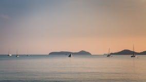 Vista sul mare del Ao Yon Bay, Phuket, Tailandia Fotografia Stock