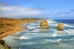 Vista sul mare dell'Australia di 12 apostoli Fotografia Stock Libera da Diritti
