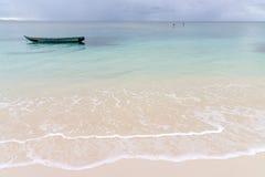 Vista sul mare dell'isola di Sainte Marie Fotografia Stock Libera da Diritti
