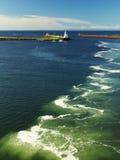 Vista sul mare dell'Oceano Atlantico Fotografie Stock Libere da Diritti