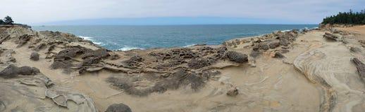 Vista sul mare dell'Oregon/paesaggio - panorama Fotografia Stock