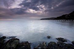 Vista sul mare della baia di Colwyn Fotografie Stock