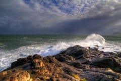 Vista sul mare della costa Fotografia Stock Libera da Diritti