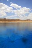 Vista sul mare della laguna di Dahab. L'Egitto. Mar Rosso. Immagini Stock