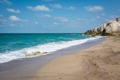 Vista sul mare della linea costiera di Mar Nero in Turchia Fotografie Stock Libere da Diritti