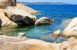 Vista sul mare della roccia Immagini Stock
